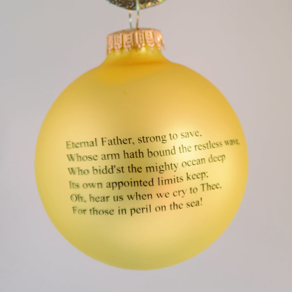 Navy Glass Ornament
