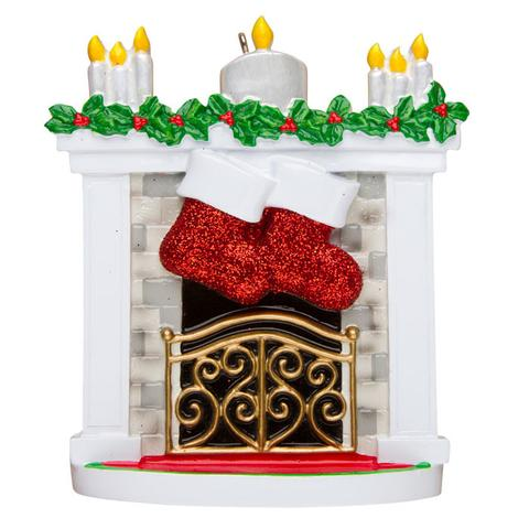 Fireplace Mantle with Stockings for 2