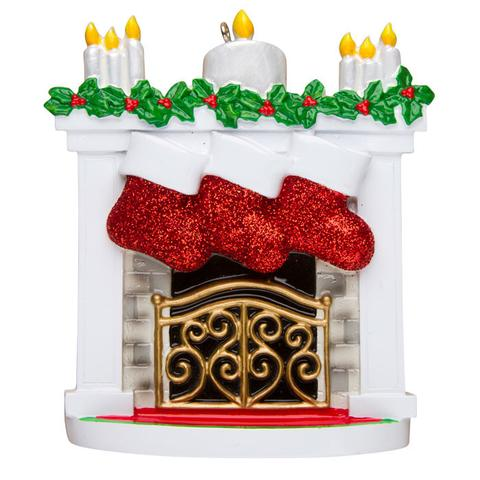 Fireplace with 3 Stockings