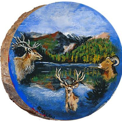 Colorado Wildlife Wood Ornament