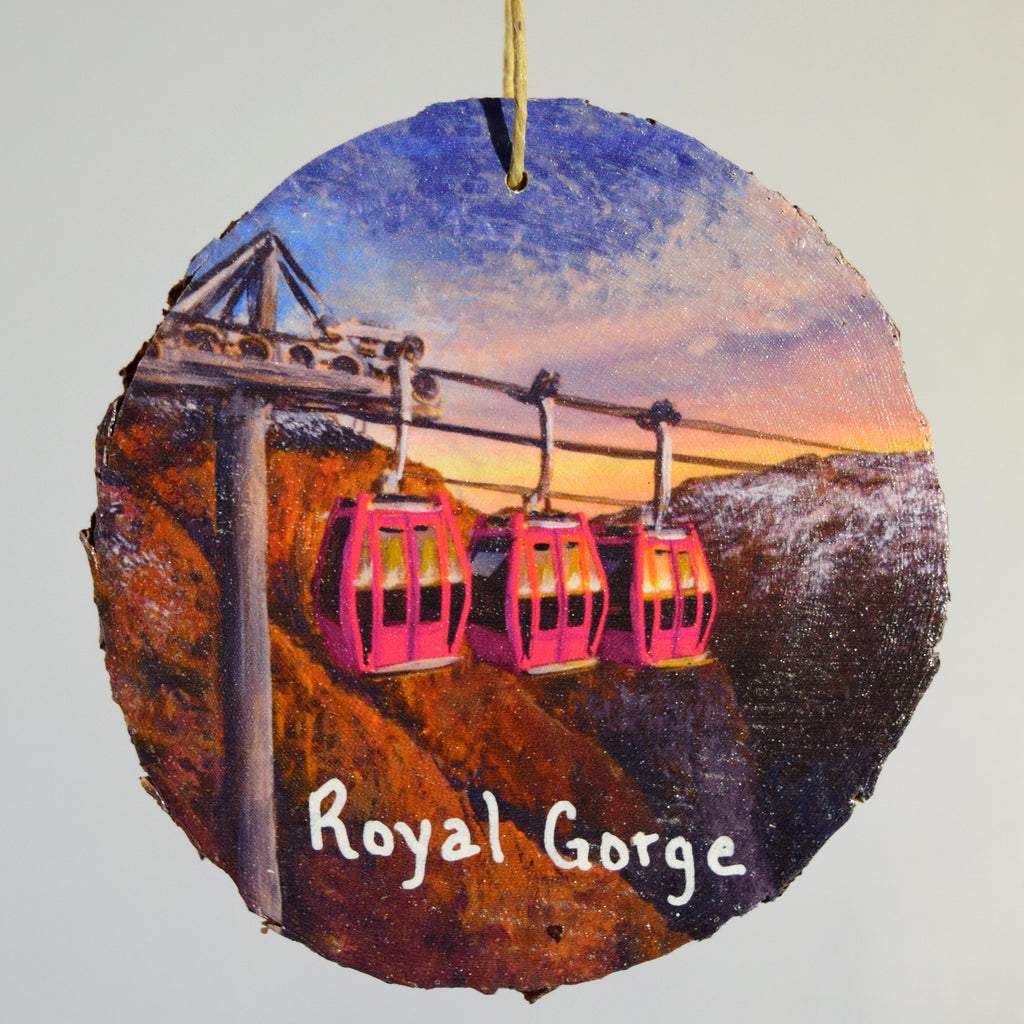 Royal Gorge Gondolas Wood Ornament