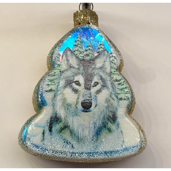 Glass Colorado Wolf Ornament