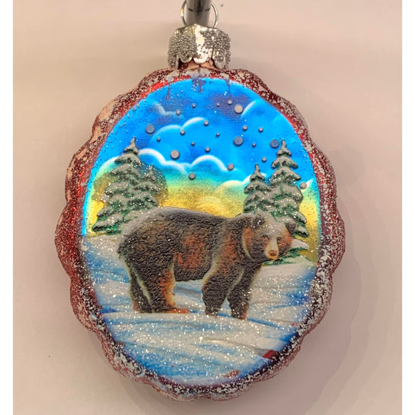 Colorado Bear Glass Ornament