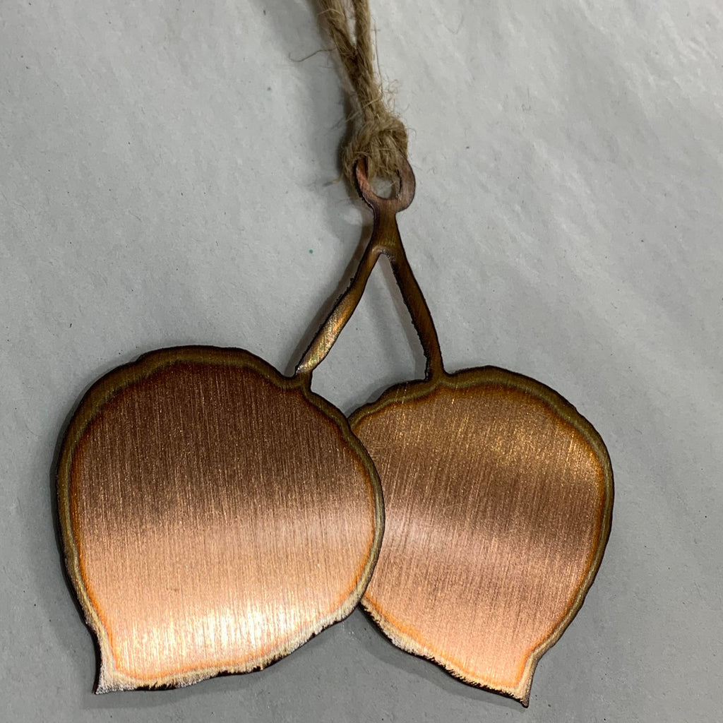 Copper Aspen Leaf Ornament