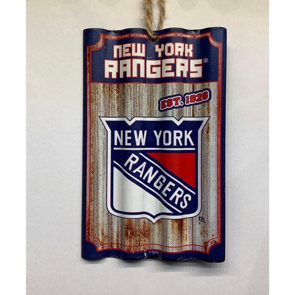 New York Rangers Tin Ornament