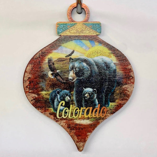 Colorado Bear Drop Ornament