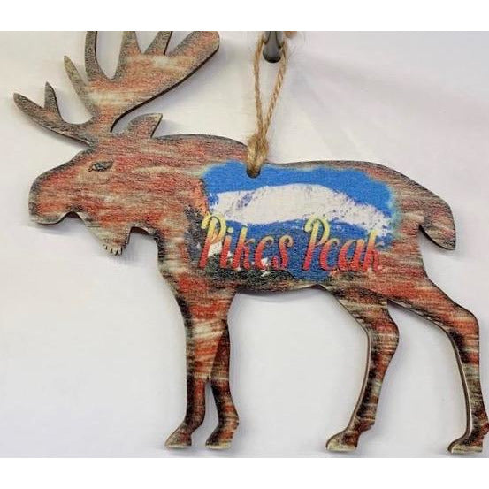 Pikes Peak Moose Ornament