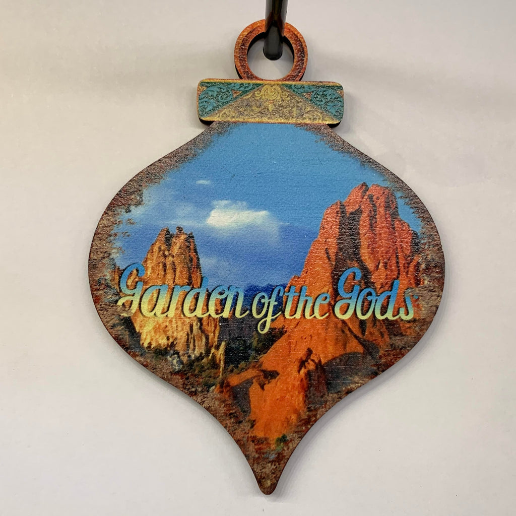 Garden of the Gods Wooden Ornament