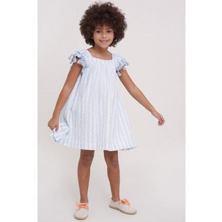 roller rabbit girls dress + light blue stripes