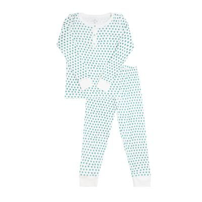 pajama set + light blue gingham