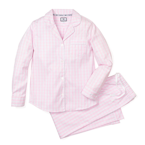 pajama set + pink gingham