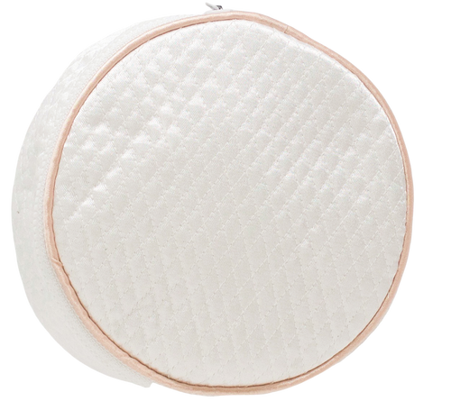 Lenora Large Jewelry Round - White + Pink