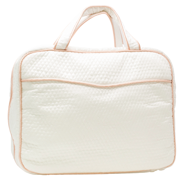Lenora The Weekender - White + Pink