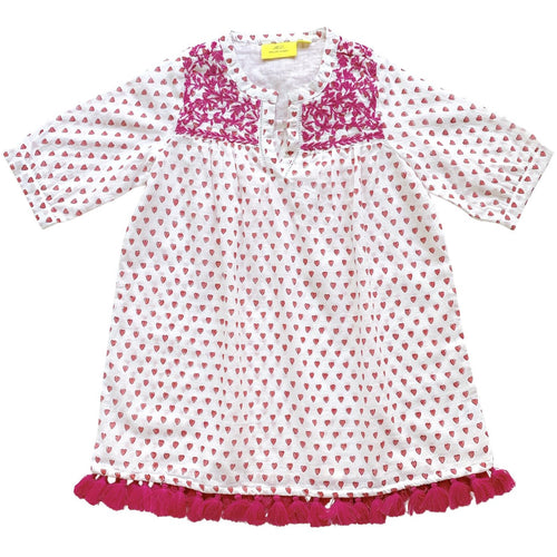 roller rabbit girl's tunic + hearts