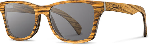 shwood, sunglasses, zebrawood, wood, glasses polarized, usa, made in america, handcrafted, lens,