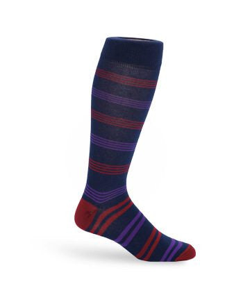 The Cole Adult & Youth Socks [Purple Stripe]