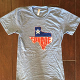 Tee, Tri-blend, adventure, usa, travel, america, apparel, tee shirt, shirt, adventure tee, conroe, texas