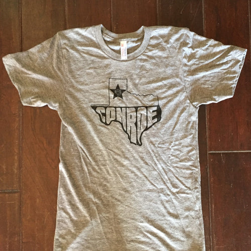 Conroe, tri-blend, texas, usa, branding iron, american, texas