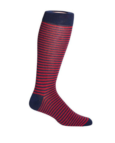 The Oxford - Red and Blue Stripe Socks