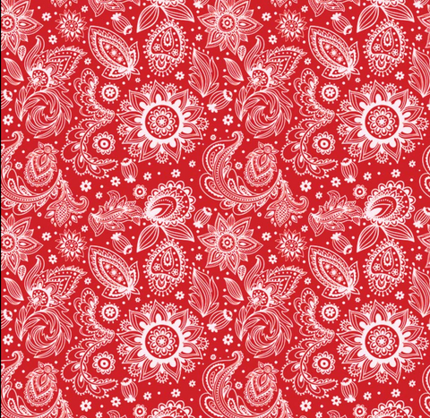 Prims Paisley Red - Bandana