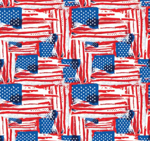 Painted USA Flags - Bandana