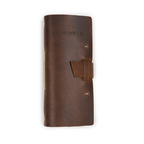 Leather Fishing Log Book