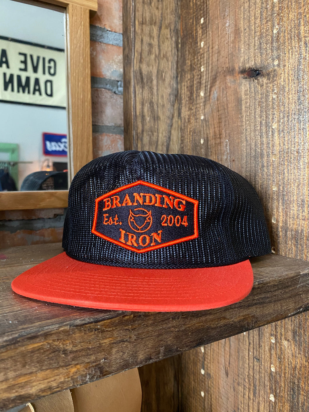 Established 2004 Snapback Hat [Black/Orange]