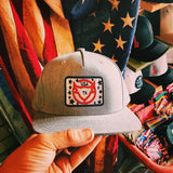 American Ninja Snapback Hat [Heather Grey]