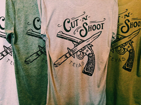 Vintage Cut-N-Shoot Texas Unisex Tee [4 Colors]