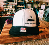 Come And Take It-White/Black Flexfit Hat