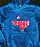 Hoodie - Conroe Texas - Super Soft Heather Royal