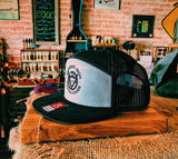The ERIK - Branding Iron 7 Panel Elite Snap Back Hat - Heather/Black