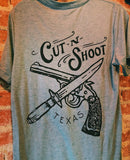 Cut-N-Shoot Texas-Vintage Tri-Blend-Tee