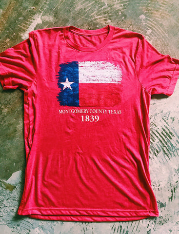 1839 Texas Flag Unisex Adult & Youth Tee [2 Colors]