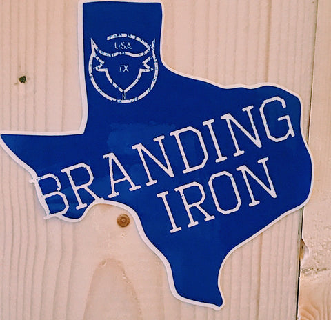sticker, decal, brandingiron, texas,