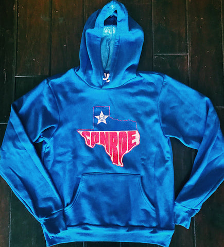 hoodie, tee, shirt, conroe, texas, branding iron, goods, warm, garment,