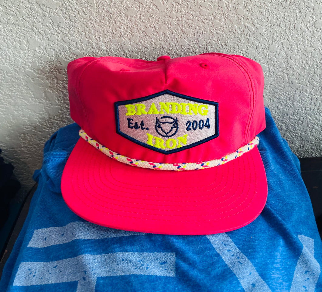 Established 2004 Grandpa Snapback Hat [Neon Pink]