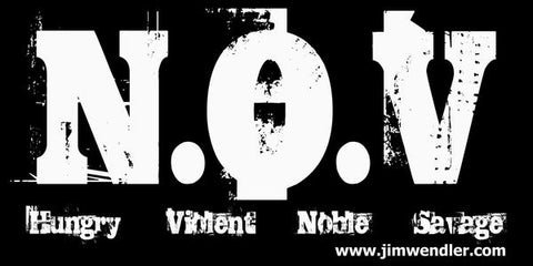 N.O.V. Banner for the gym by Jim Wendler