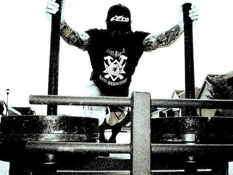 Jim Wender Pushing A Prowler - Conditioning For Athletes - jimwendler.com