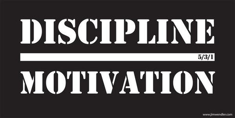 Discipline Over Motivation Banner by Jim Wendler