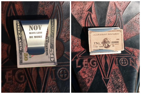 Cash And Card Holding Money Clip.  NOV.