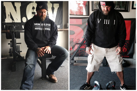 Black Training Hoodies by Jim Wendler