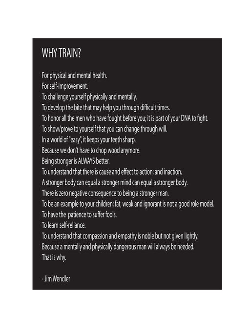 WHY TRAIN Aluminum Wall Sign