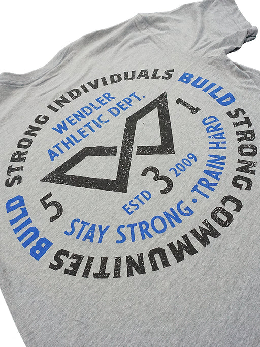 Strong Individuals Shirt Grey w/ Black and Blue