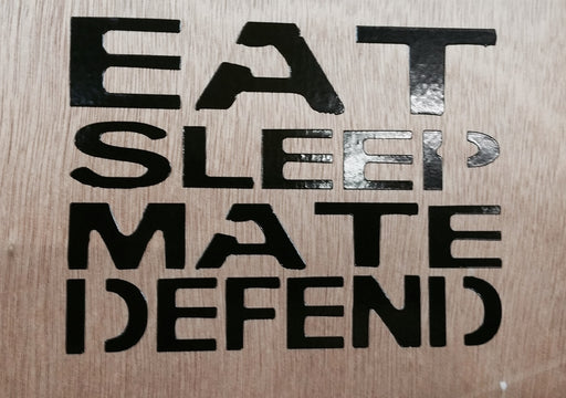 Eat Sleep Mate Defend Decal - JimWendler.com