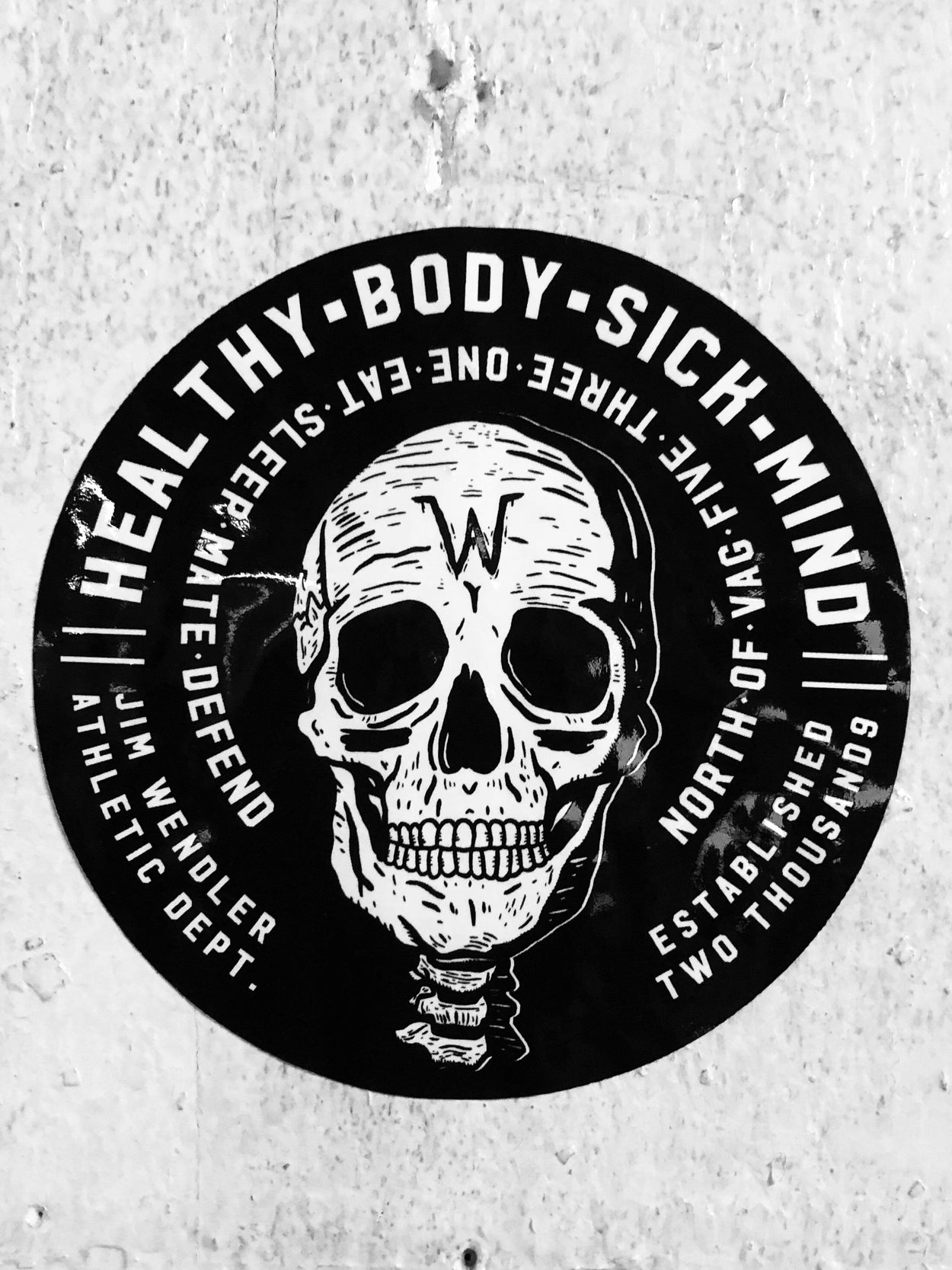 Sick Mind Decal - JimWendler.com