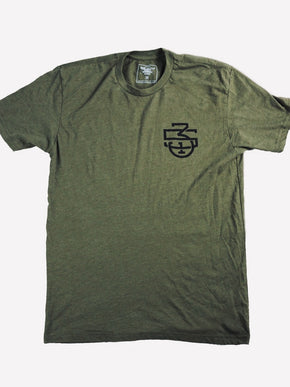 Discipline Skull Shirt - Army Green