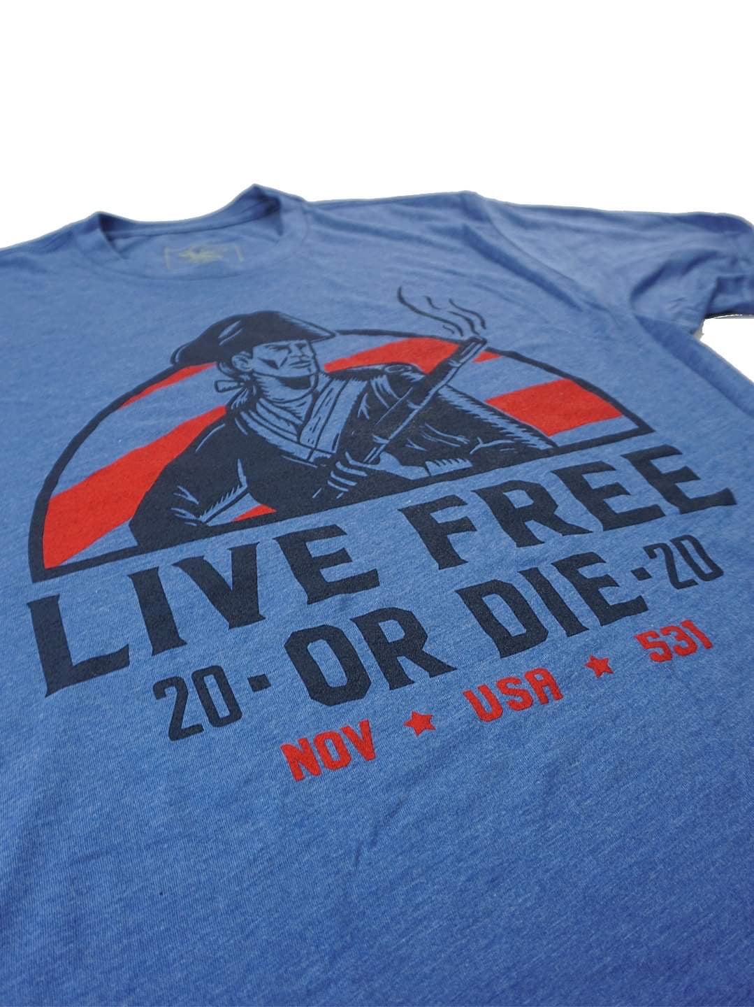 Limited Edition - Live Free Shirt - Patriot blue