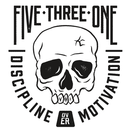 Discipline Over Motivation Skull Sticker