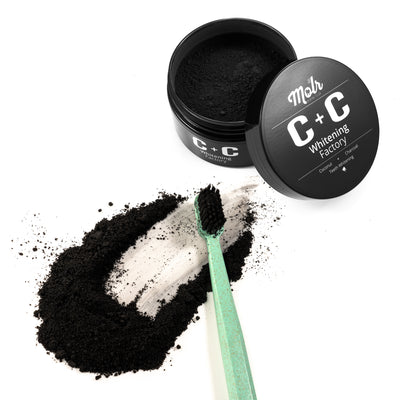 Carbon + Coconut Teeth Whitening Powder and Toothbrush